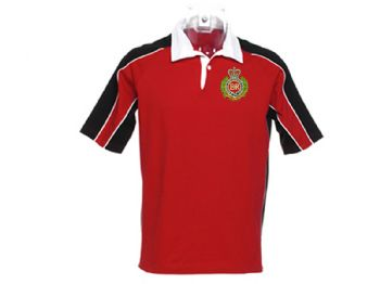 Short Sleeve Red/Black Rugby Shirts 3XL